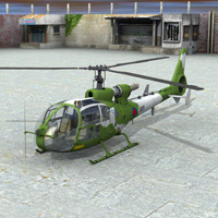 Gazelle Helicopter (for Poser) image 3