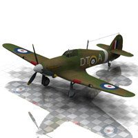 Hurricane Aircraft (for Poser) 3D Models VanishingPoint