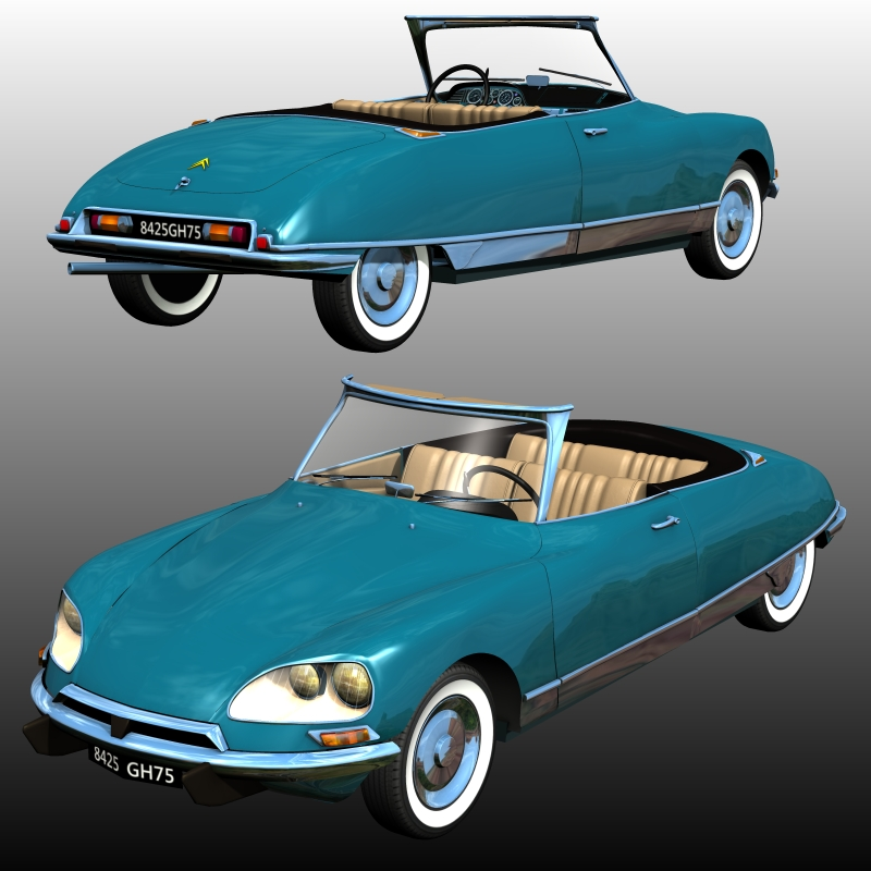 CITROEN DS 21 CABRIOLET ( for Poser ) by 3DClassics