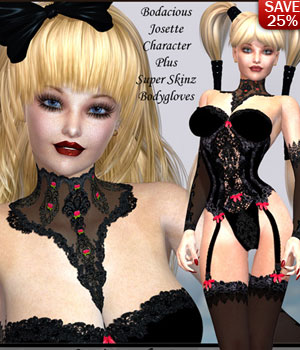 B#1 HOT Bodacious Josette 3D Figure Essentials 3D Models lululee