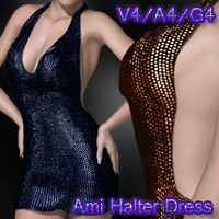 Ami Halter Dress V4-A4-G4 3D Figure Essentials nikisatez