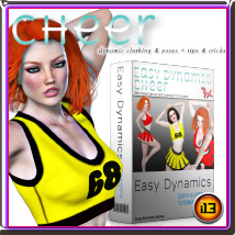 EASY DYNAMICS Cheer 3D Figure Assets Tutorials : Learn 3D ironman13