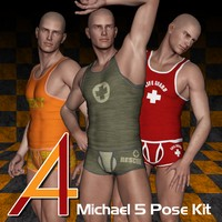 4ADZ M5 Pose Kit Set 1 3D Figure Assets dzheng
