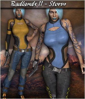 Badlands II - Storm for V4 3D Figure Assets Extended Licenses 3D Models RPublishing