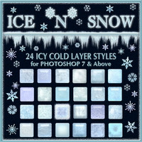 Ice 'n' Snow Layer Styles w/Free Gift 2D And/Or Merchant Resources Themed fractalartist01