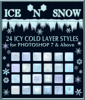 Ice 'n' Snow Layer Styles w/Free Gift 2D Graphics fractalartist01