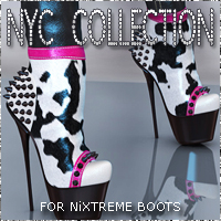 NYC NiXTreme Boots Themed Footwear 3DSublimeProductions