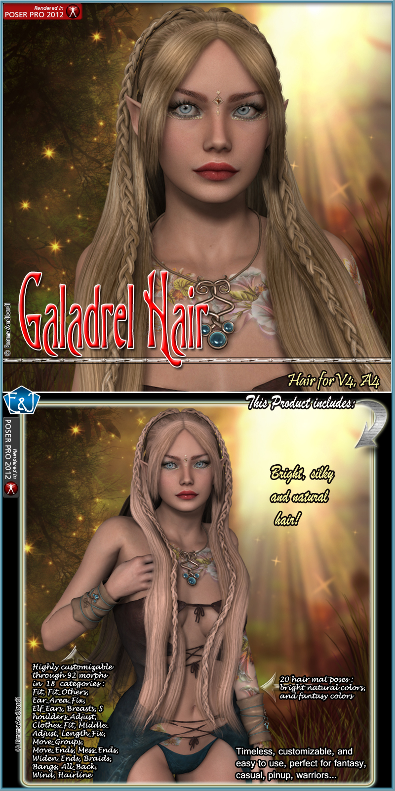 Galadrel Hair For V4 And A4