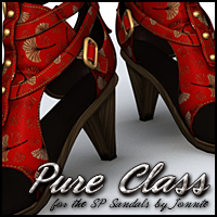 Pure Class for Steampunk Sandals 3D Figure Assets Sveva