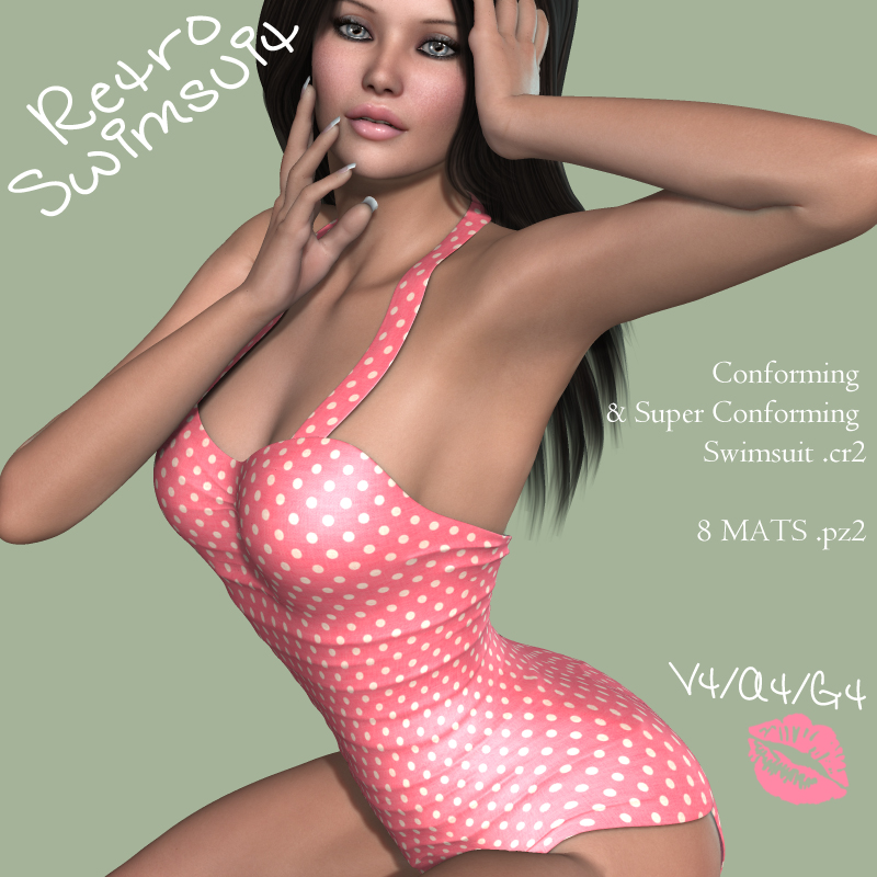 Retro Swimsuit V4-A4-G4