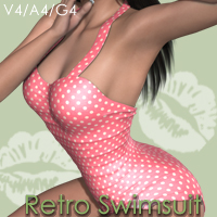 Retro Swimsuit V4-A4-G4 Clothing nikisatez