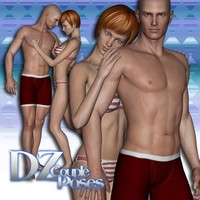 DZ MV5 Couple Poses Set 2 3D Figure Assets 3D Models dzheng