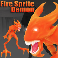 Fire Sprite Demon 3D Models DarksealStudios