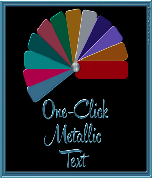 One-Click Metallic Text Layer Styles 2D Graphics fractalartist01