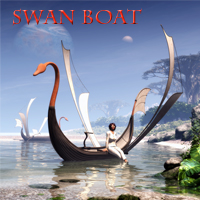 Swan Boat Themed Software Transportation 1971s