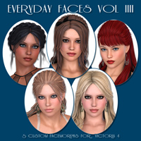 Everyday Faces IIII 3D Figure Assets Freja