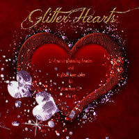 Glitter Hearts 2D And/Or Merchant Resources antje