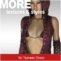 MORE Textures & Styles for Taerwen Dress Clothing motif