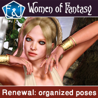 Renewal Organized Poses For V4 3D Figure Assets EmmaAndJordi