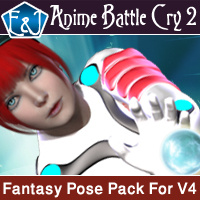 Anime Battle Cry 2 Poses Pack For V4 3D Figure Assets EmmaAndJordi