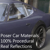Car Materials for Poser 3D Figure Essentials templargfx