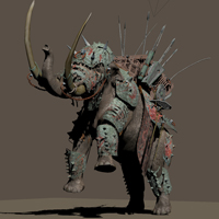 MS13 War Mammoth Armor 3D Models London224