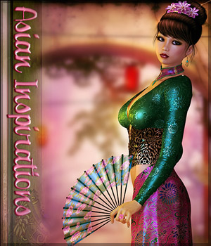 Asian Inspirations - Backgrounds & Poses 2D Graphics 3D Figure Assets Sveva
