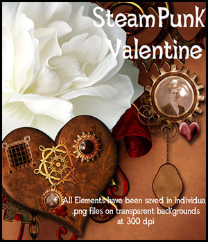 SteamPunk Valentine 2D Graphics 3D Models antje