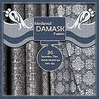 Medieval Metallic Damask Fabrics 2D And/Or Merchant Resources RajRaja