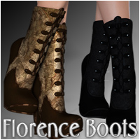 Florence Boots 3D Figure Essentials Silver