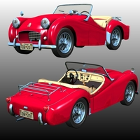 TRIUMPH TR2 1953 by Nationale7