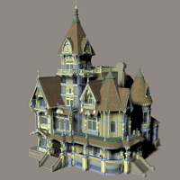 MS13 Carson Mansion 3D Models London224