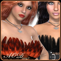 Passion for Feather Corset 3D Figure Essentials ArtOfDreams