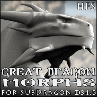HFS Great Dragon Morphs 3D Models 3D Figure Assets DarioFish