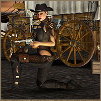 Cowgirls - for Badlands II Storm 3D Figure Essentials 3D Models boundless