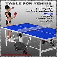 Table for tennis 3D Models tuketama