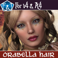 Orabella Hair For V4 And A4 3D Figure Assets EmmaAndJordi