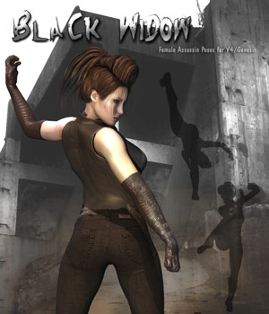 Black Widow 3D Models 3D Figure Essentials Darkworld