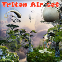 Triton Air set 3D Models 1971s