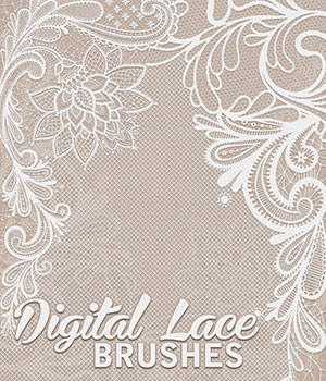 Digital Lace Brushes 2D Graphics Atenais