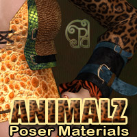 Pd-Animalz Poser Materials 3D Figure Assets 2D Graphics 3D Models parrotdolphin
