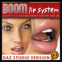 i13 BOOM Lip System for V4 - Daz Studio Version Poses/Expressions Morphs/Deformers ironman13