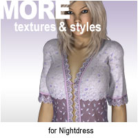 MORE Textures & Styles for Nightdress Clothing Themed motif