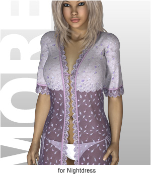 MORE Textures & Styles for Nightdress 3D Figure Assets 3D Models motif