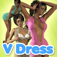 V dress 3D Figure Assets 3D Models powerage