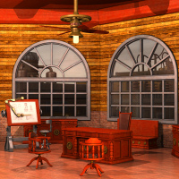 Steampunk Office Interior by Nightshift3D