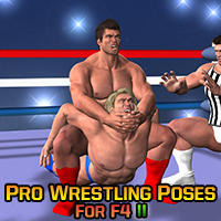 Pro Wrestling Poses for F4 II 3D Figure Assets LuckyStallion