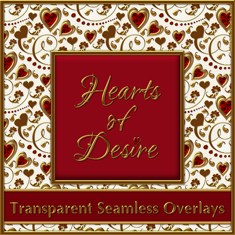 HEARTS of DESIRE Seamless Overlay Pack