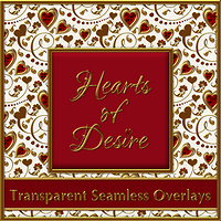 HEARTS of DESIRE Seamless Overlay Pack 2D 3D Models fractalartist01