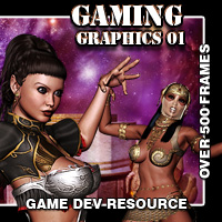 Game Graphics 01 2D And/Or Merchant Resources Gaming Themed Darkworld